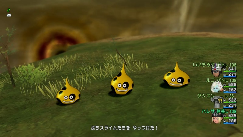 ぶちスライム3匹編成